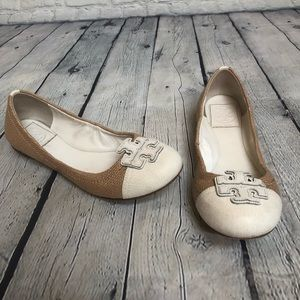 Tory Burch Crarita Ballet Flats -Canvas Leather